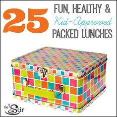 These ideas are SO great! No more same-old boring packed lunches here. They're easy, nutritious and kids will love them.