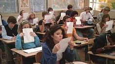 smelling papers fresh off the mimeograph machine... :)