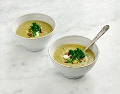 broccoli and pistachio soup