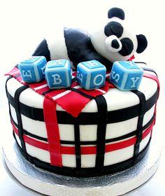 Panda baby shower cake.