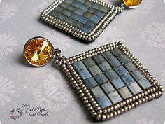 bead earrings, earring tutori, bead embroideri, beaded earrings, seed beads, cuenta, tila bead