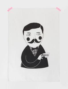 Man tea towel by Depeapa