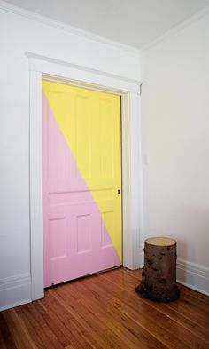 yellow + pink door