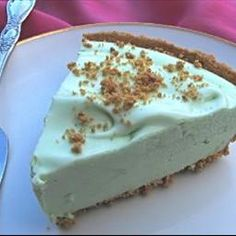 Key Lime Pie (Weight Watchers) So good!