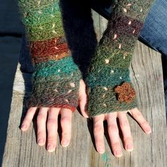 fingerless glove crochet pattern.