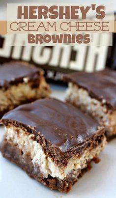 Hersheys Cream Cheese Brownies.. Are You Kidding Me... These Are So Good!