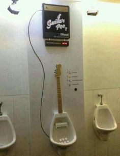 Play a solo while your taking a piss