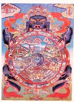 Tibetan Wheel of Life Thangka Tangka Painting Art by oldsilkroute, $12.00  #Tibetan # Thangka