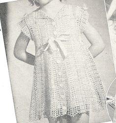 2 VINTAGE CROCHET Pattern PDF - Child's Dress and Bonnet - 1945 - 2 Patterns - Pattern  27. $2.99, via Etsy.