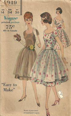 Vogue 9949 Vintage 60s Sewing Pattern Dress