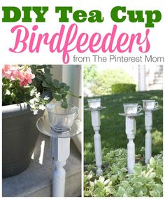 DIY Teacup Birdfeeders:  Visit www.tidalwalk.com today for #luxury #waterfront living at its finest!  #beach #DreamHome #Wilmington #NC