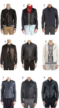 For The Guys: Spring Leather Jackets