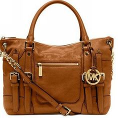 Wow, Worth it!Cofortable and cheap! Michael Kors Leigh Large Brown Satchels #Fashion