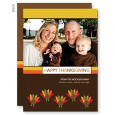 Turkeys and Turkeys Thanksgiving Photo Cards #StationeryStudio