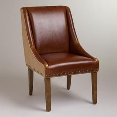 Leather and Jute Wes Dining Chair