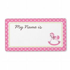 baby shower name tags on pinterest girl names name tags and rocking