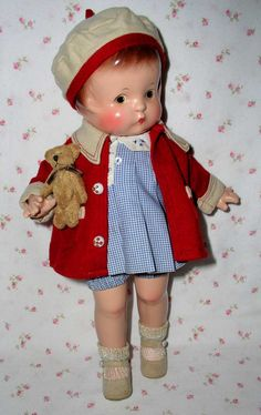 1929 Effanbee PATSY Doll -- Patent Pending -- OUTSTANDING