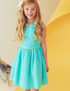 Broderie Party Dress - Mini Boden