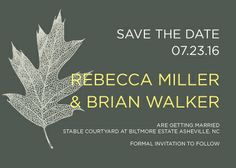 Save the Date Card - Transparent Leaves