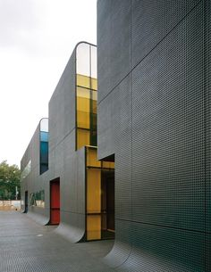 RATP Bus Centre, France, by Emmanuel Combarel. Surface is similar to LEGO.