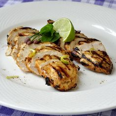 Chili Lime Cumin Grilled Chicken - you can't have too many quick and tasty marinades for grilled chicken. Leftovers from this dinner make some of the best chicken salad sandwiches for lunch the next day too. These tender chicken breasts are also delicious as chicken burgers.