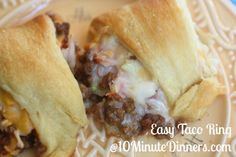Easy Taco Ring - perfect for parties, dinners and the big game!! We love as a meal or an appetizer.