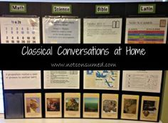Classical Conversations at Home  Just use whatever subjects or memory work you are working on that week.