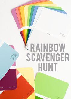 Go on a rainbow scavenger hunt.