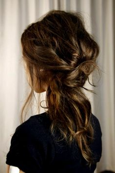 Tousled knot... makes me want my hair long