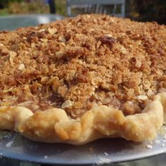 Apple Rum Raisin Pie with Dutch Top  vegan, plantbased, Earth Balance, Made Just Right
