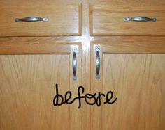 Builder Grade Cabinet Remodel