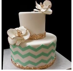 Chevron Wedding Cakes  Keywords: #chevronweddingcakes #jevel #jevelweddingplanning Follow Us: www.jevelweddingplanning.com www.pinterest.com/jevelwedding/ www.facebook.com/jevelweddingplanning/