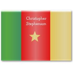 #AfricanShop #AfricanFlags #Cameroon Flag Business Card