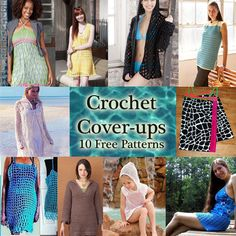 Crochet Swimsuit Cover-ups: 10 Free Patterns for the pool and beach!