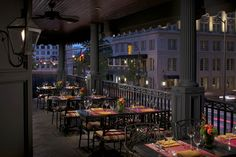 The veranda at The Ritz-Carlton, Atlanta offers a unique perspective overlooking famous Peachtree Street.