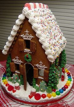 Gingerbread Bread White Roof