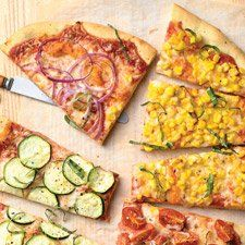 Farmers Market Pizza - This pizza features a versatile crust topped with some of the freshest flavors of summer.