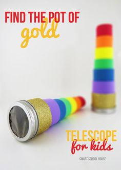 Find the Pot of Gold Telescope! A rainbow, leprechaun, four leaf clover finding telescope for kids! Helps you find anything you can image or set out to see