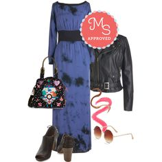 In this outfit: Lines in Ink Dress, Through the Foliage Jacket, Honest to Cuteness Bag, Sleek Streak Liquid Eyeliner in Copper, Switch Up Your Shade Lip Crayon in Fig, Come and Octagon Sunglasses, We the Peep-le Bootie #maxidress #ootd #tough #cute #booties