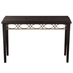 Fretwork Hall Console Table - Antique Black