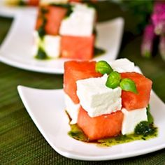 Watermelon and feta puzzle