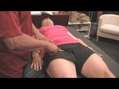 Sports Massage Demonstration: Psoas Muscle for Back, Butt and Leg Pain, Athletic Tune-Up Austin
