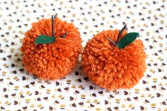Happy October! - Make Pom Pom Pumpkins - one sheepish girl