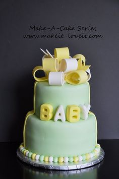 Baby Cake: How to make a gumpaste bow