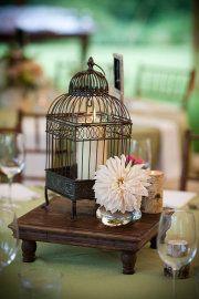 Simple birdcage centerpiece