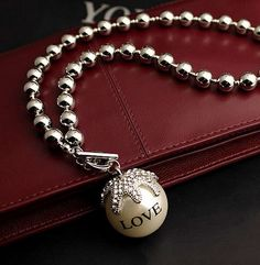 Love Pearl Ball Statement Necklace   LilyFair Jewelry, $16.99!