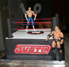 WWE cake - I have to post my friends cake.  She does such a beautiful job on her cakes!