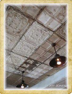 LOVE! <3<3<3 a ceiling tin ceiling...