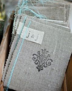 Beautiful stitched ceremony booklets