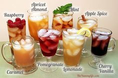 How To Make Flavored Iced Teas